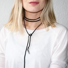 One of many ways you can wear withloveabella's quartz choker wrap 🌙