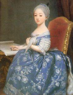 María Josefina Luisa de Saboya,por Giuseppe Duprá.