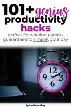 Wondering how you can get more done in less time? Or if it's even possible? Well, I promise it's possible, you just need some proven time management and productivity hacks to make it happen. Check out these 100+ productivity hacks guaranteed to make your life easier. Includes busy mom hacks, work at home productivity, goal planning, time management techniques, and so much more.