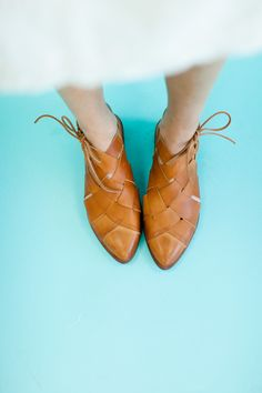 Free People Destino Woven Flat in Honey | ROOLEE