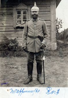 Bearded Prussian infantry officer on the Eastern Front (Królewskie Poland) 1915 | by ✠ drakegoodman ✠