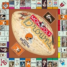Cleveland Brown Cleveland Browns Monopoly Game Cleveland Brown jerseys