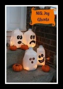 could we ask parents to bring milk jugs and have the kids paint faces on and halloween porch decorationshalloween