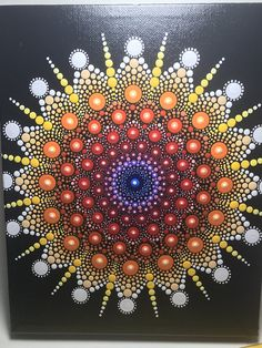 "Hand painted with acrylic in Multicolors, sprayed with a high gloss sealer to protect the colors. Canvas size is 8"" X 10""."
