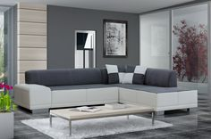 Furniture. Exceptional Cool Living Room Furniture Design Ideas. Minimalist Modern Living Room Furniture Design Featuring Freestanding White Gray Combined Leather Fabric L Shape Couch With Gray White Plaid Double Cushions And Freestanding Chrome White Rectangle Table Plus White Rectangle Modern Rug. Living Room Furniture Design Ideas