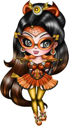 Tube halloween - (page - Passionimages Anime Halloween, Halloween Doll, Halloween Clipart, Gothic Fantasy Art, Gothic Fairy, Ghost Rider, Girl Cartoon, Cartoon Art, Images Disney