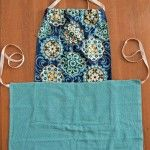 Make this simple dish towel apron for a frugal apron to wear around your kitchen or for a quick gift!