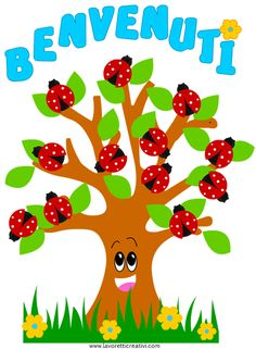 cartello benvenuti coccinelle Animal Crafts For Kids, Animals For Kids, Classroom Displays, Classroom Decor, Curriculum Template, Back To School Bulletin Boards, First Day School, School Labels, School Clipart