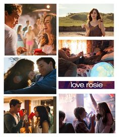 """""""Love,Rosie"""" by ayappa ❤ liked on Polyvore featuring art, lilycollins, SamClaflin, Loverosie and movie"""