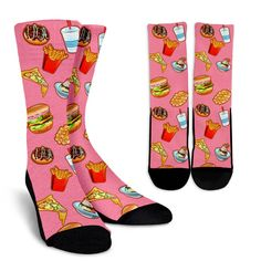 Burger Cartoon, Food Socks, Dachshund Gifts, Food Patterns, Gifts For Photographers, Buy Shoes Online, Patterned Socks, Unique Shoes, Custom Shoes