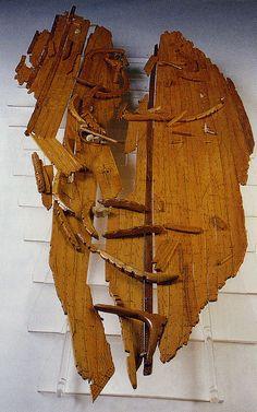 Navires grecs de Marseille. Maquette des vestiges archéologiques de l'épave JV7 (Photo CNRS/CCJ)
