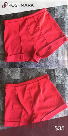 559fc1e99a86 Red Vintage High Waisted Shorts Size Medium Selling these excellent  condition red vintage high waisted shorts