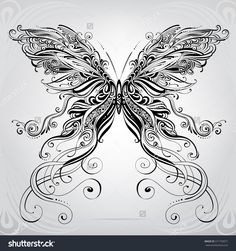 Butterfly in an ornament - Tattoos Butterfly Coloring Page, Butterfly Drawing, Butterfly Tattoo Designs, Lace Butterfly Tattoo, Tattoo Drawings, Body Art Tattoos, Key Tattoos, Skull Tattoos, Mini Tattoos