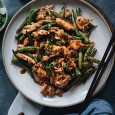 This takeout string bean chicken is so easy to make and perfect for a weekday dinner. The juicy chicken is seared in a black bean sauce with green beans. Recipes With Green Beans And Chicken, Healthy Chicken Recipes, Asian Recipes, Cooking Recipes, Chinese Recipes, Oriental Recipes, Duck Recipes, Asian Foods, Vegetarian Meals