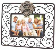 Wire Photo Frame: Live a Life of Love, Ephesians 5:2 is a   Homeware Plaque . Purchase this Plaque product online from koorong.com | ID 667665173113