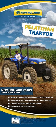 Roll Up Banner New Holland Agriculture Tractor