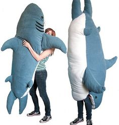 Shark pillow/sleeping bag
