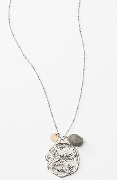 North Star pendant necklace from J.Jill $39. I. WILL. HAVE. THIS!