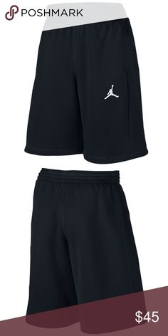 b0102d07cb98be Nike AIR JORDAN FLIGHT Men s Fleece Shorts - Black Brushed French terry  fabric has a soft