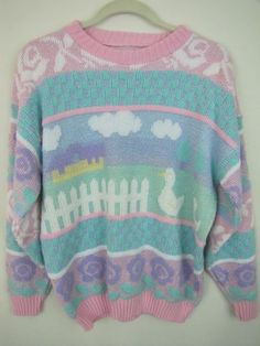 80s pastel sweater