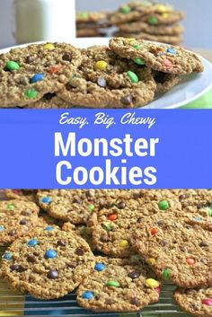 Easy Monster Cookies Recipe- Big & Chewy | Divas Can Cook