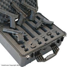 Handgun Case hold 6 pistols by GunCruzer