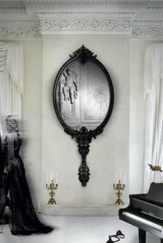 Marie Antoinette Mirror - Limited Edition Collection By Boca do Lobo - Classic For Horror Movies Sets | www.bocadolobo.com #bocadolobo #interiordesign #mirror #livingroomideas #acessories #marieantoinette