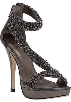 54f16199f42 Pelle Moda - Favilla Evening Sandal Pewter Leather Evening Sandals