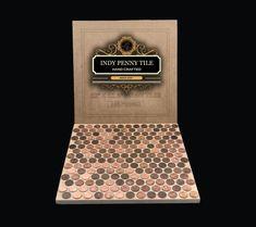 Tile Sheets of US Copper Pennies. Penny Floor and Backsplash Penny Back, Penny Tile, Sanded Grout, Contractors License, Bath Tiles, Thing 1, Mini Chandelier, Pennies, Mini Pendant