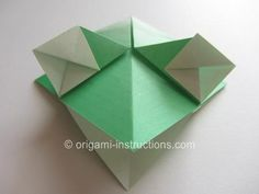 Find out how to fold this cute and easy origami happy frog here! Origami Instructions, Origami Easy, Diy Tutorial, Diy Crafts, Crafty, Beads, Happy, Cord, Draw