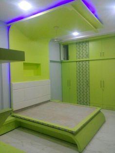 Wardrobe Design Bedroom, Bedroom Wall Designs, Bedroom Bed Design, Modern Bedroom Design, Kids Bedroom, Simple False Ceiling Design, Bedroom False Ceiling Design, Modern Bedroom Furniture, Bed Furniture