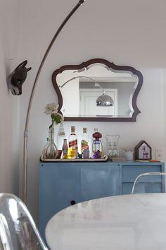 Decoração de: Detalhes  - buffet azul; Casa de Valentina