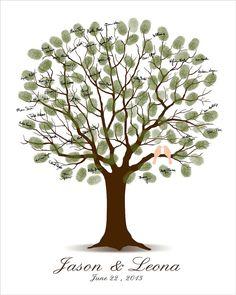 Alternativa de libro de visitas Family Tree árbol libro