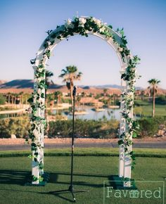 Wedding Alter | Wedding Ceremony | Purple Wedding | Las Vegas Wedding at Bear's Best Golf Course | Wedding Planning: Favored by Yodit Events | Photo credit: Myron Hensel