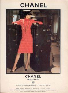 Inès de La Fressange for Chanel