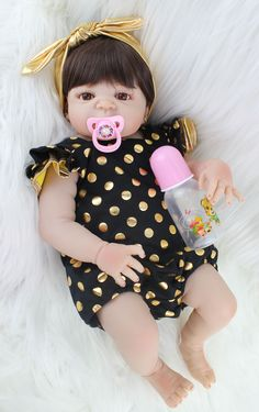 55 cm corpo cheio de silicone reborn baby doll toy realistas recém-nascidos bebês princesa boneca com brinco menina brinquedos brinquedo de banho