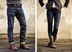 """""""All I really want out of a relationship is the ability to find his and her denim & boots."""" -- http://thatkindofwoman.tumblr.com/"""