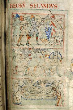 Battle of Beerzet, Bible of Saint Stephen Harding, early 12th century