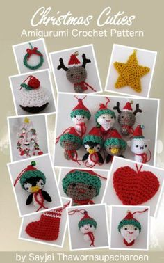 Quick and Easy Christmas Gifts to Make - Knitting, Crochet and Craft Patterns Christmas Cuties Amigurumi Crochet Pattern (Chrismas Ornaments Book 2)
