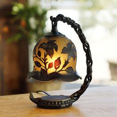 Rakuten: A beautiful table mini-lamp such as the tablelamp_lily jet black. It is good to the study and antique furniture! In the present of the birthday.- Shopping Japanese products from Japan