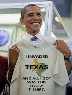 Kinda Fair And Unbalanced News:  Obama gloats after his Jade Helm invasion of Texas brings the proud Lone Star State to its knees.  Has this man no compasion?  What's next on his agenda?  Is he going to replace the Governor with a hand picked Illegal Alien from Mexico?  Is there any truth to the rumor that El Chapo is a possible choice?  Hurry up and get elected Mr. Trump, so that you can right the wrongs of this wayward Administration.