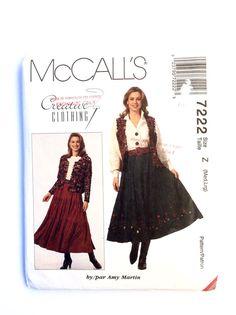 McCall's 7222 Women's Jacket Vest Skirt Pattern by DonnaDesigned