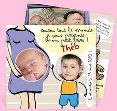 Faire-part naissance réf. N31110 chez monFairePart.com