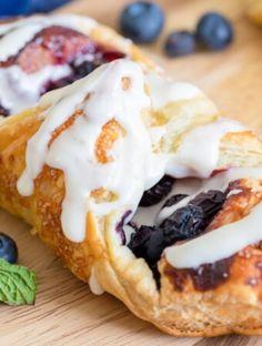 Recipe Index Blueberry Danish, Blueberry Jam, Strawberry Glaze, Danishes, Lemon Cream, Pastry Recipes, Favorite Recipes, Breakfast, Ethnic Recipes