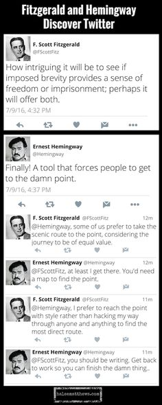 Fitzgerald & Hemingway Discover Twitter
