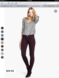 Sunny pants. For skinny girls.