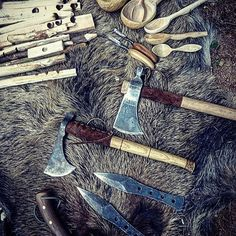 Toys 🏹🏋🏿⚔⚔⚔⚔ #bushcraft #czech #brno #mountains #pocketdump #nature #knife #beauty #fire #esee3 #everydaycarry #outdoor #axe #viking #motivation #awesome #edc #dream #life #smile #blade #army #forest #wild #boy #survival #iphone6 #photo #sunny #tomahawk