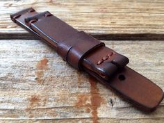 vintage leather watch strap EUR) by vintagestrong Leather Tooling, Calf Leather, Leather Wallet, Panerai Straps, Leather Tutorial, Leather Accessories, Watch Accessories, Leather Craft, Handmade Leather