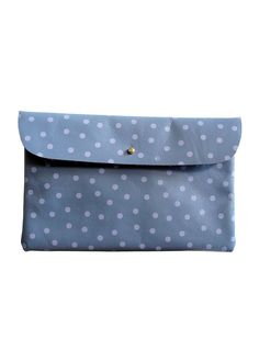Light Purple with Dots Clutch