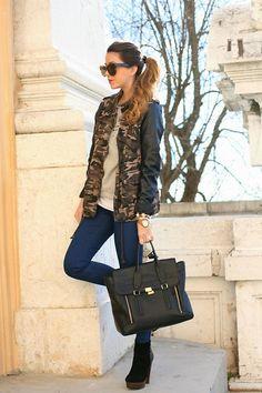 Camouflage  (by Nicoletta Reggio) http://lookbook.nu/look/4773147-Choice-Zara-31-Phillip-Lim-Sarenzait-Camouflage